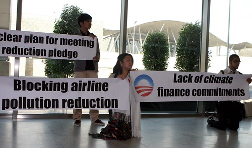 Youth call out Obama Administration failures on climate leadership. Credit: Kyle Gracey/SustainUS