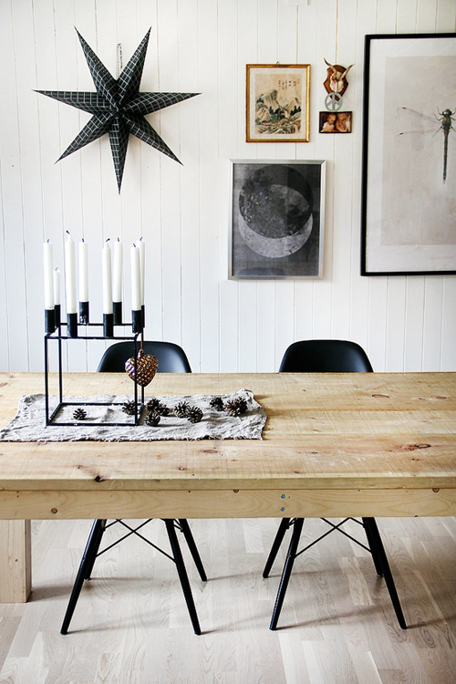 Black White Christmas Decorations The Style Files