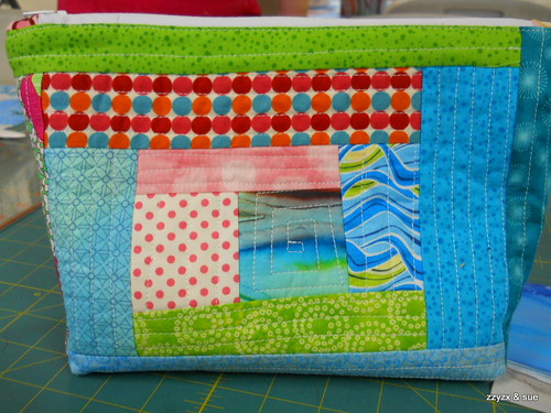 zipper bag - gorgeous colors (front)