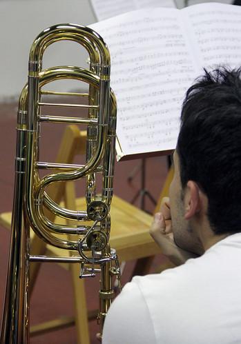 ENSAYO DE LA BANDA JUVENTUDES MUSICALES-UNIVERSIDAD DE LEÓN PARA EL GRAN CONCIERTO CONJUNTO DEL DOMINGO 9 DICIEMBRE´12
