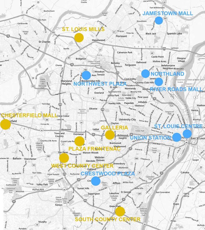 stl mall map