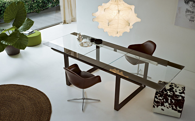 Black Mirrored Dining Room Table