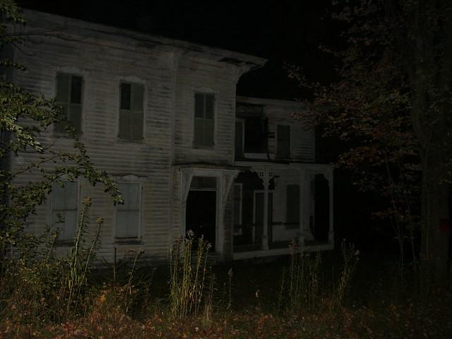 Abandoned House at Night   Flickr - Photo Sharing!