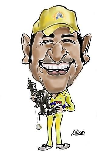 MS Dhoni Cartoon