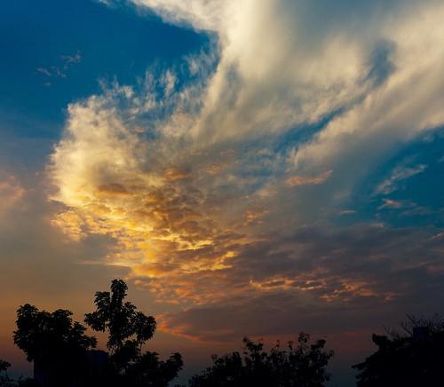 [フリー画像素材] 自然風景, 空, 雲, 朝焼け・夕焼け ID:201212271600