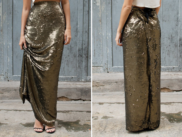 DIY sequin maxi skirt3