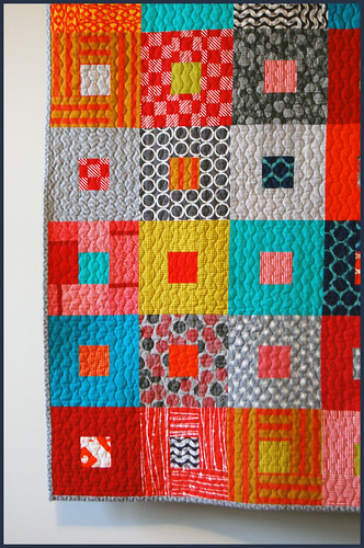 baby b quilt close up