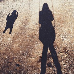 An afternoon at the park. #latergram #swing #shadow