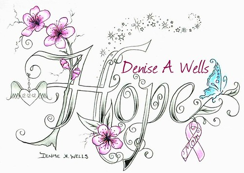 Hope Cherry Blossom Tattoo design by Denise A. Wells