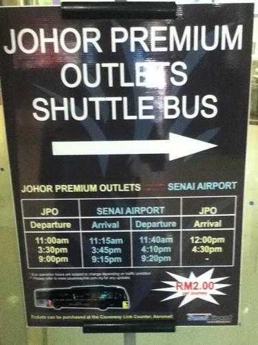 Johor Premium Outlets shuttle bus
