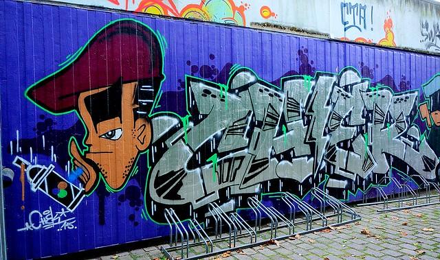Oldenburg - Youth club Ofenerdiek ( street: Lagerstraße ) / 13th picture / Graffiti, street art