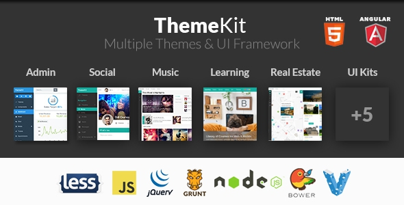 ThemeKit v4.0 - Bootstrap Admin Theme Kit