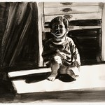 Crouching child 3; charcoal, 22 x 30 in, 1994