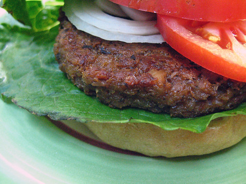 Oat Burger with Hazelnuts