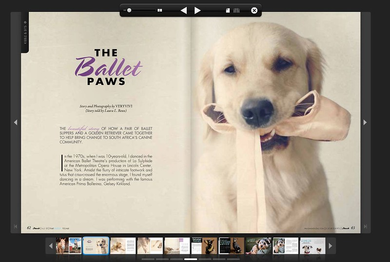 Pawsh Magazine Features Vivi's Ballerina Dreams