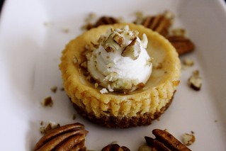 Pumpkin Goat Cheese Cheesecakes with Maple Whipped Cream (GF)