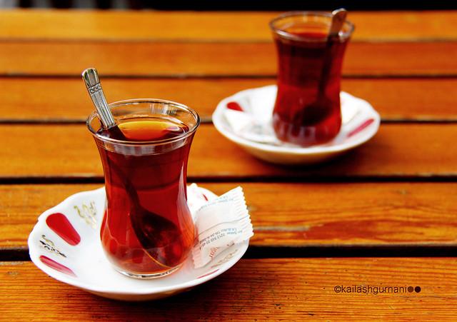 two turkish tea glasses