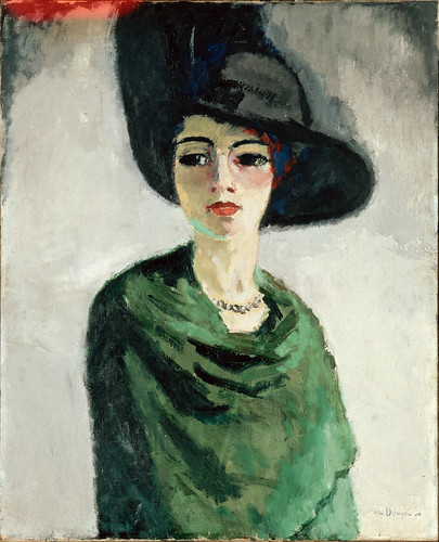 Kees Van Dongen - Woman in a Black Hat [1908] by Gandalf's Gallery
