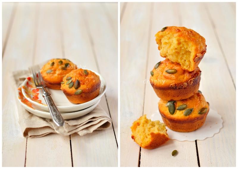 Pumpkin & Cheese Muffins