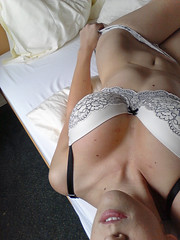 Bra and Panties Self Shot Ava Rouge