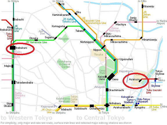 Japan ikebukuro subway map - rebeccasawblog