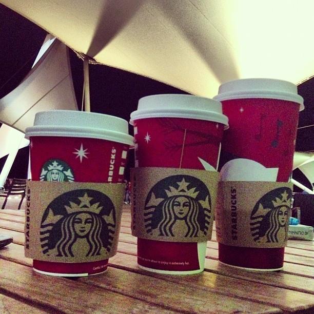 #Starbucks #Red #Coffee #Toffee #Nut #Latte #Black #Tea