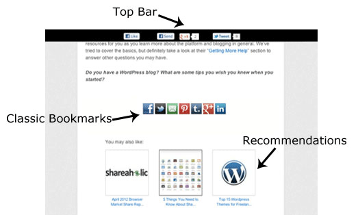 Top Bar & Classic Bookmarks