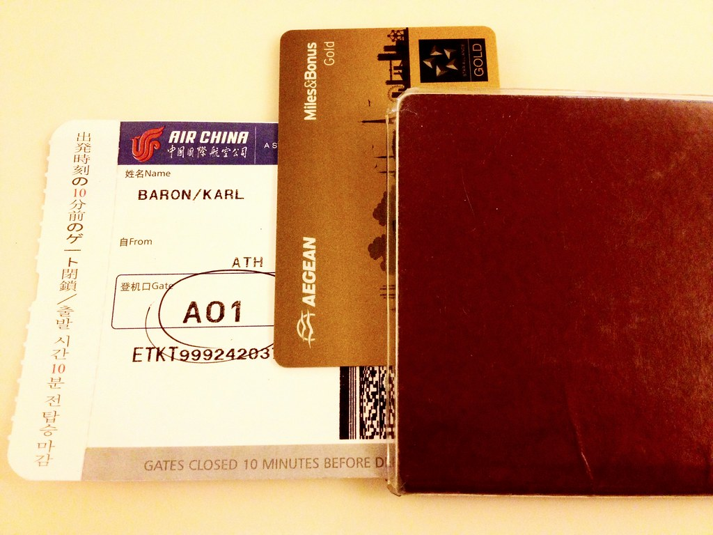 Boarding Pass, Gold Card, Passport