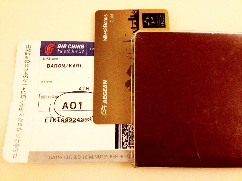 Boarding Pass, Gold Card, Passport