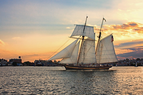 sunset sailboat river harbor maryland pride baltimore schooner patapsco gcbsr
