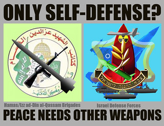 Only Self-Defense? ~  Gaza/Israel: Peace Needs other Weapons
