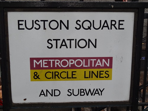 Euston Square with no Hammersmith & City Line