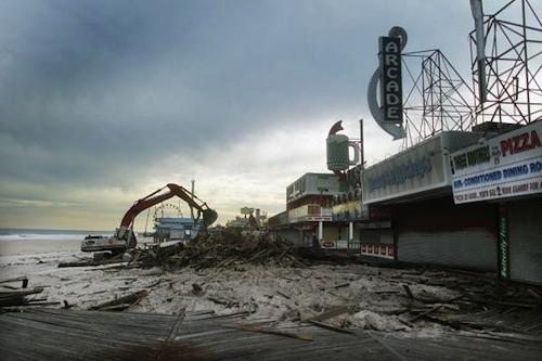 Seaside Heights, NJ after Sandy