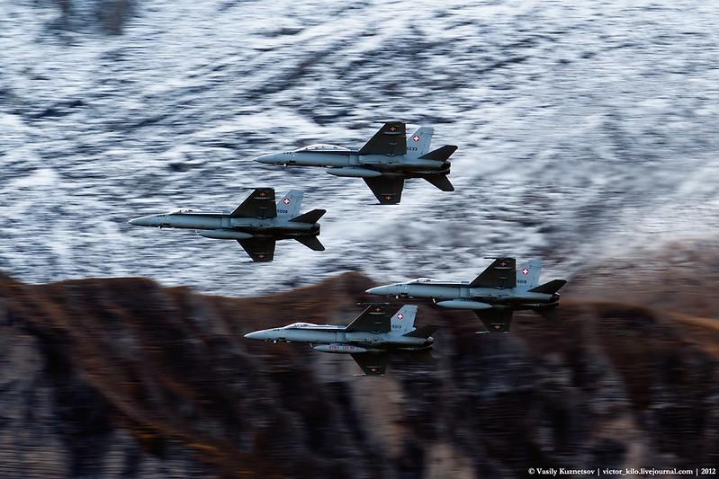 Four Hornets pass
