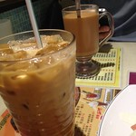 Hot and cold Hong Kong milk tea