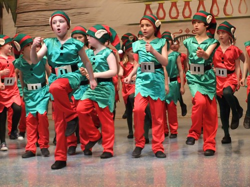 'Elf & Safety The junior gang get into their stride in the Christmastown! scene from Edinburgh Gang Show 2012. Dress rehearsal photo: Michael Walker