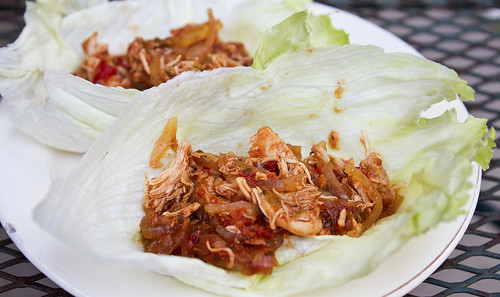 crock pot tex mex chicken lettuce wraps