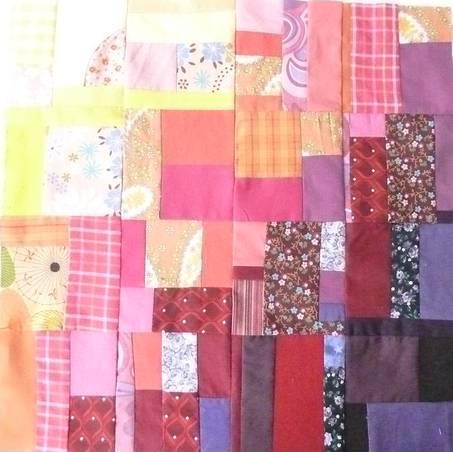 crazy patchwork, from scraps
