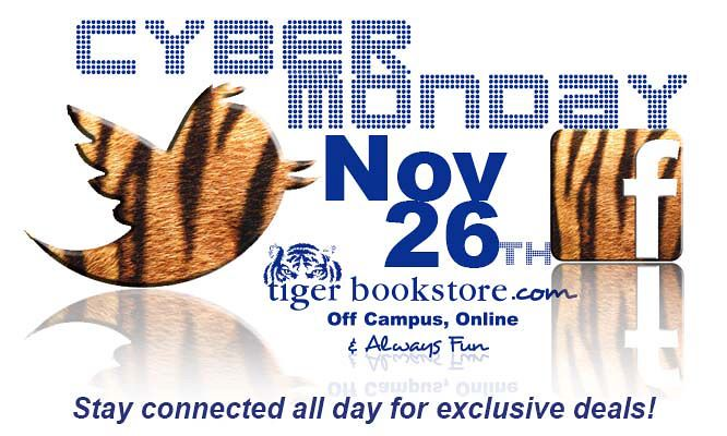 Cyber Monday - Tiger Bookstore - MBS Foreword Online