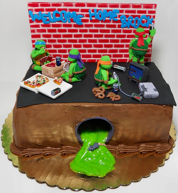 The Teenage Mutant Ninja Turtle Cakeseptember Cake Pinterest