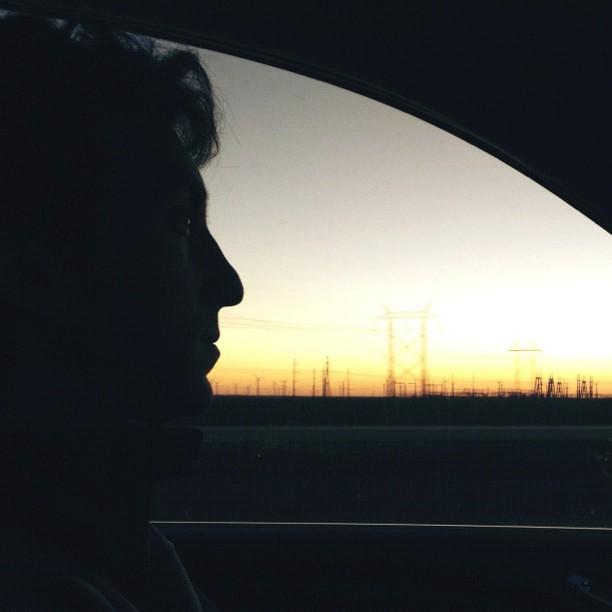 wind turbines at sunset #sopretty #albuquerquebound