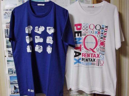 PENTAX K-30 Tシャツ、PENTAX QTシャツ