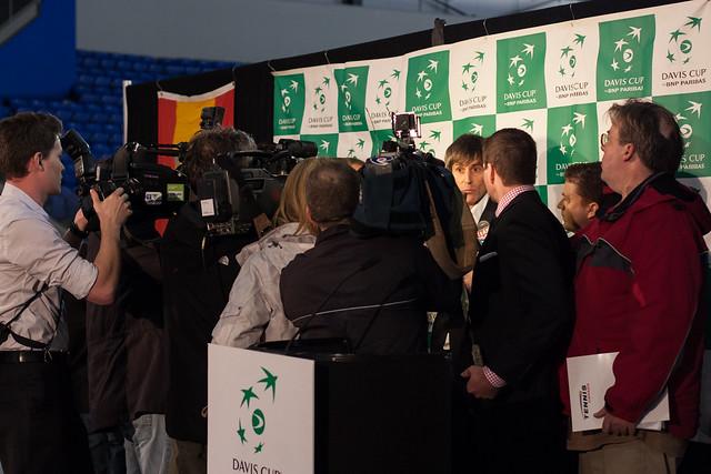 Martin Laurendeau - Tennis Canada Davis Cup Press Conference @ UBC