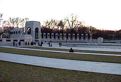 The National World War II Memorial in  Washington, D.C. was opened on April  29, 2004, and formally dedicated one  month later.