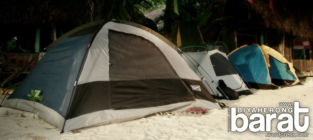 tents in pansacola resort cagbalete island mauban quezon