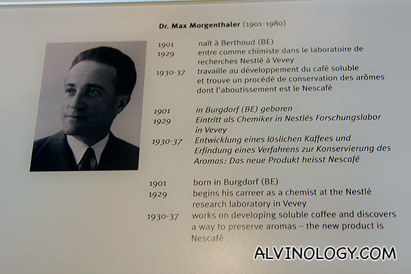 Dr Max Morgenthaler, the Nestle chemist who invented Nescafe