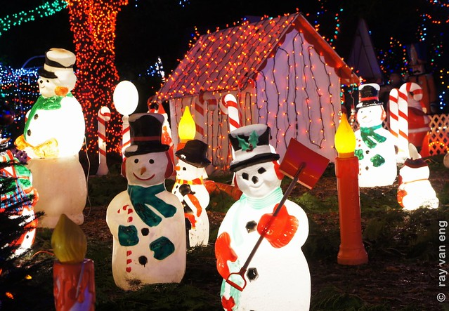 Bright Nights 2012 at Stanley Park on a Christmas Miniature Train Riding through a Winter Wonderland of Colorful Lights