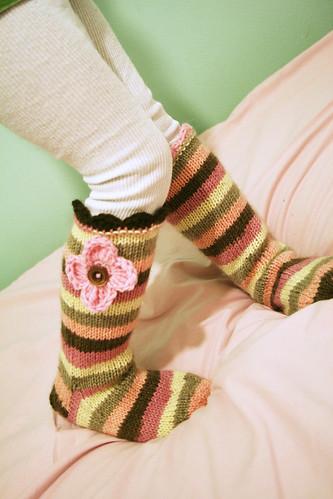 Candy colour socks
