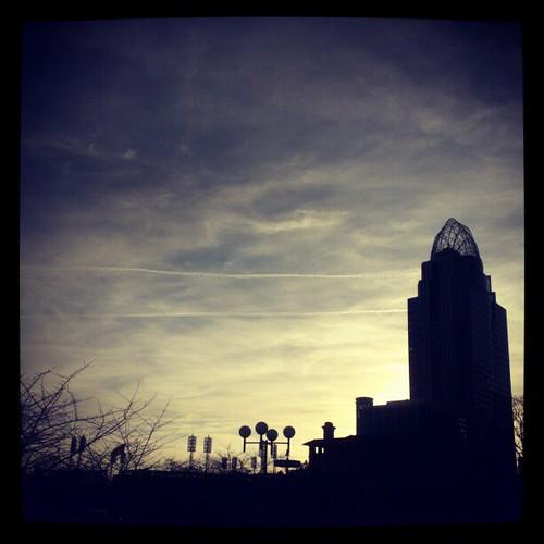 Gorgeous evening in downtown Cincinnati!