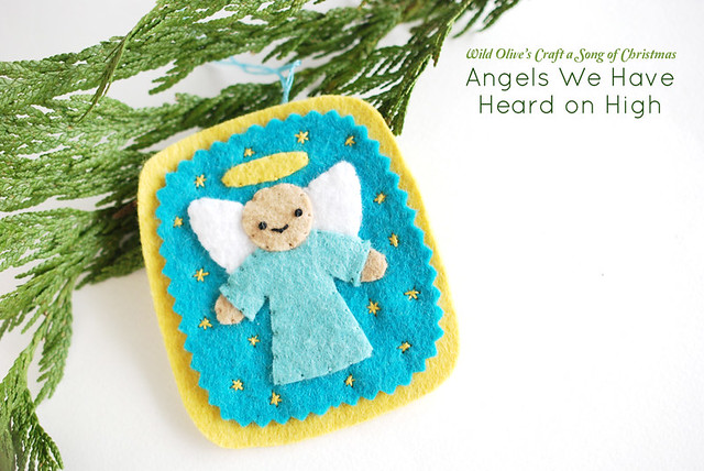 Angels We Have Heard on High Felt Ornament